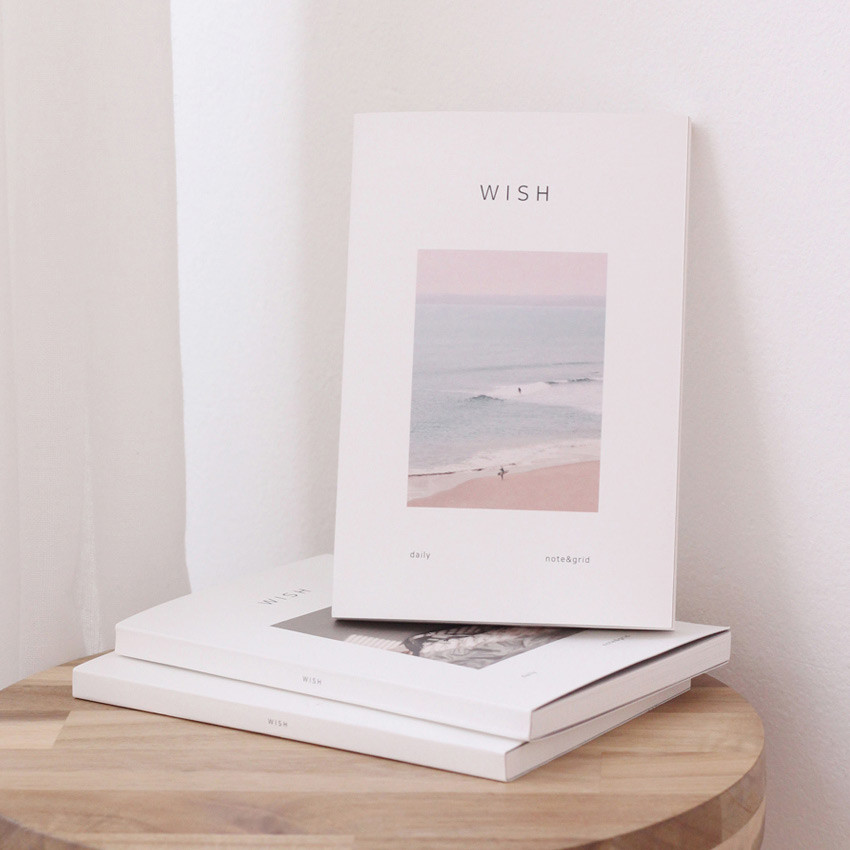 Beach - Dash And Dot As your wish daily lined blank grid notebook