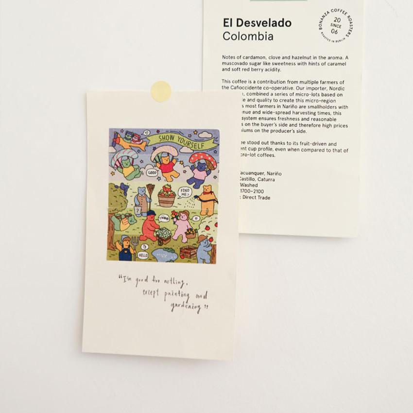 Usage example - Dailylike Jelly bear garden masking seal sticker set