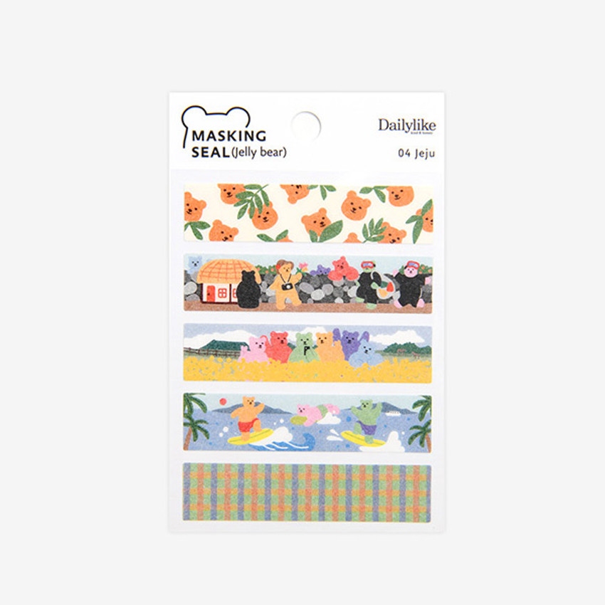 Pacakage - Dailylike Jelly bear Jeju masking seal sticker set