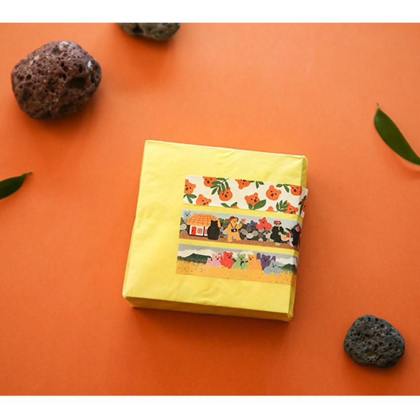 Usage example - Dailylike Jelly bear Jeju masking seal sticker set