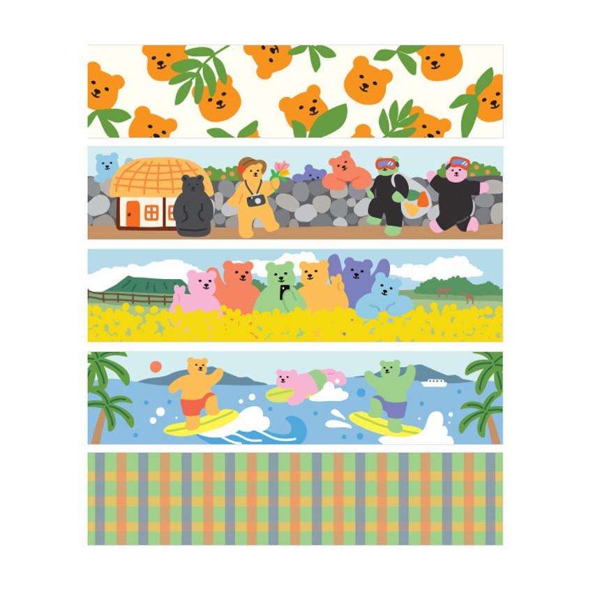 Dailylike Jelly bear Jeju masking seal sticker set