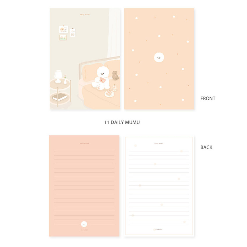 11 daily mumu - My illustration letter always thank you envelope set ver2