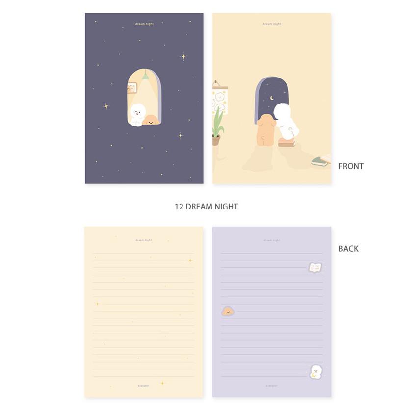 12 dream night - My illustration letter always thank you envelope set ver2