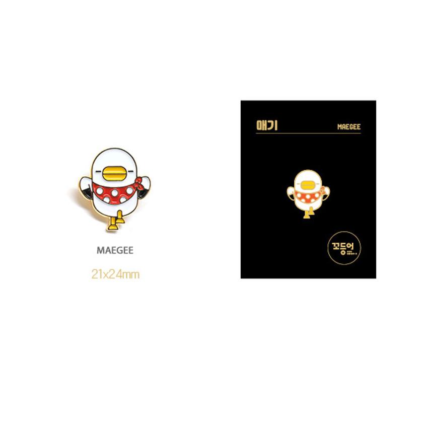 Maegee - DESIGN IVY Ggo deung o friends pin badges ver2