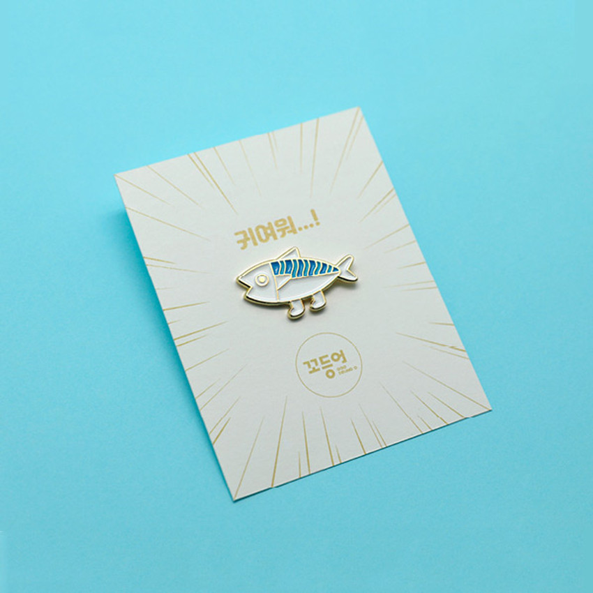 DESIGN IVY Ggo deung o friends pin badges ver2
