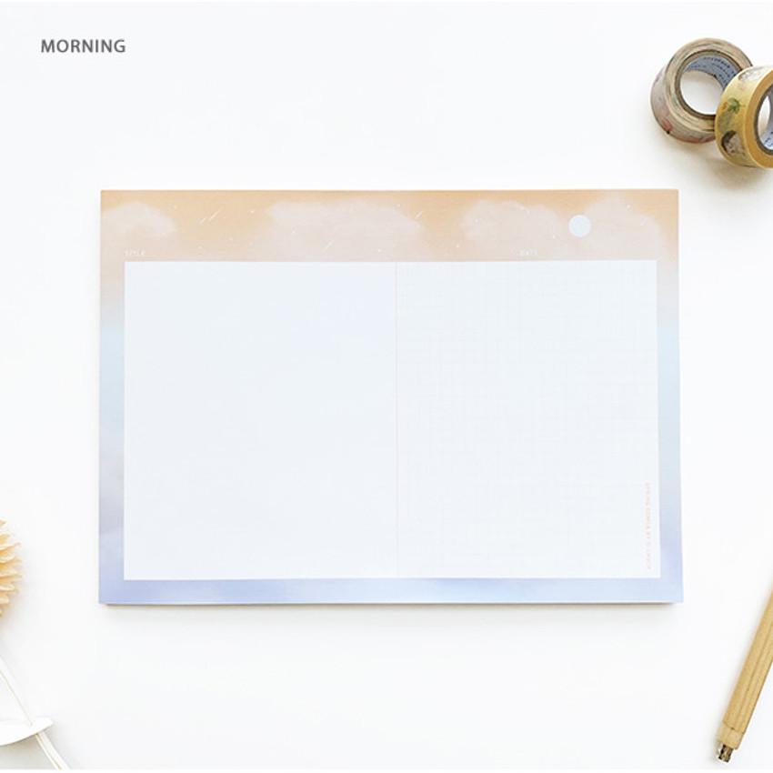 Morning - O-CHECK Horizontal B5 study notes blank and grid notepad