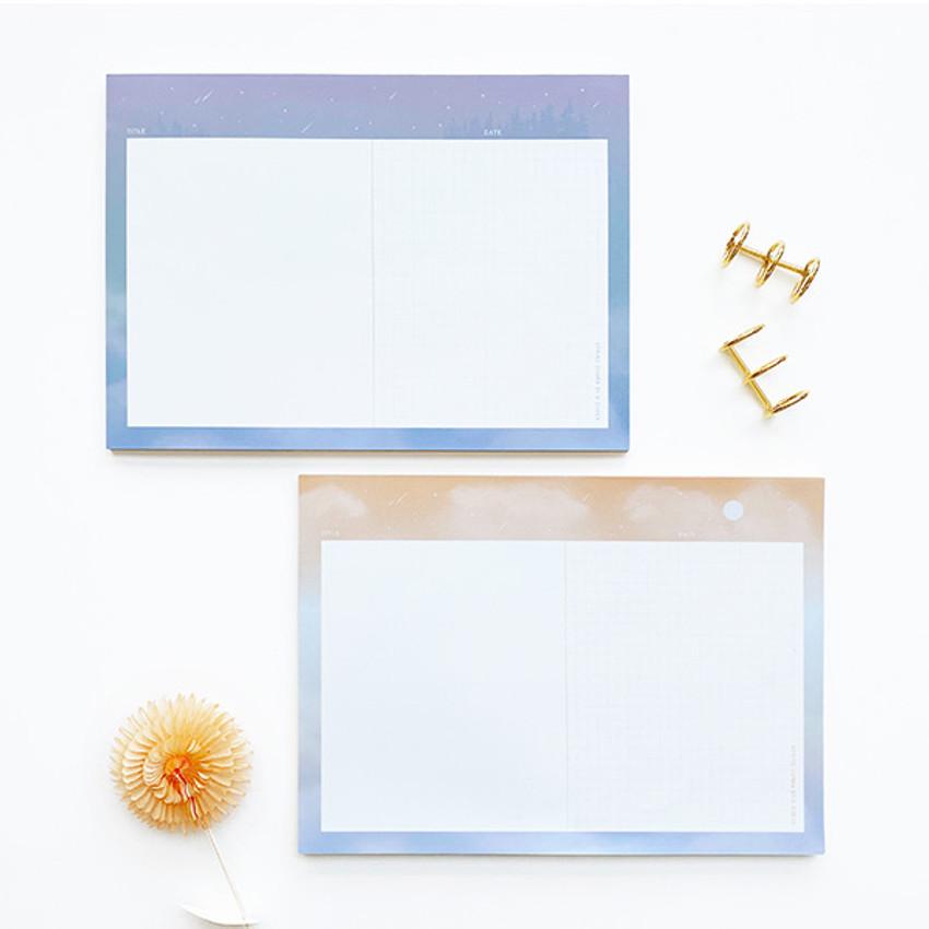 O-CHECK Horizontal B5 study notes blank and grid notepad