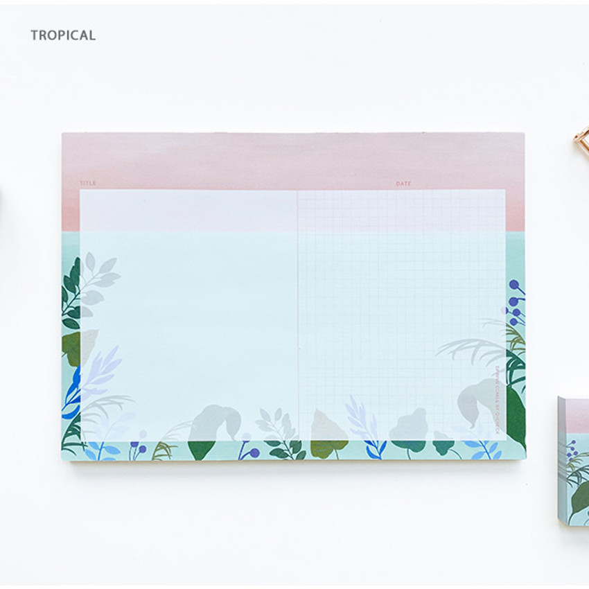 Tropical - O-CHECK Horizontal B5 study notes blank and grid notepad