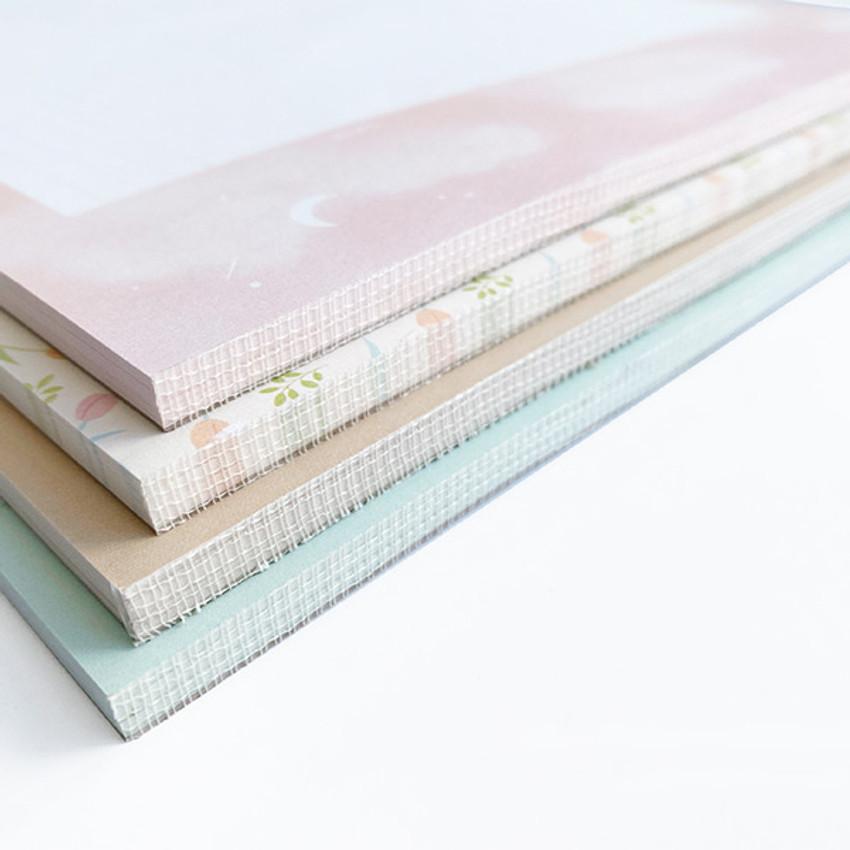 50 sheets - O-CHECK Horizontal B5 study notes blank and grid notepad