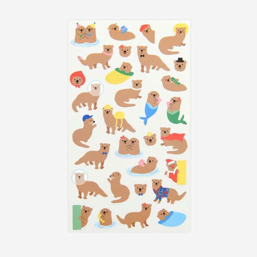 For your heart paper adhesive sticker - Otter