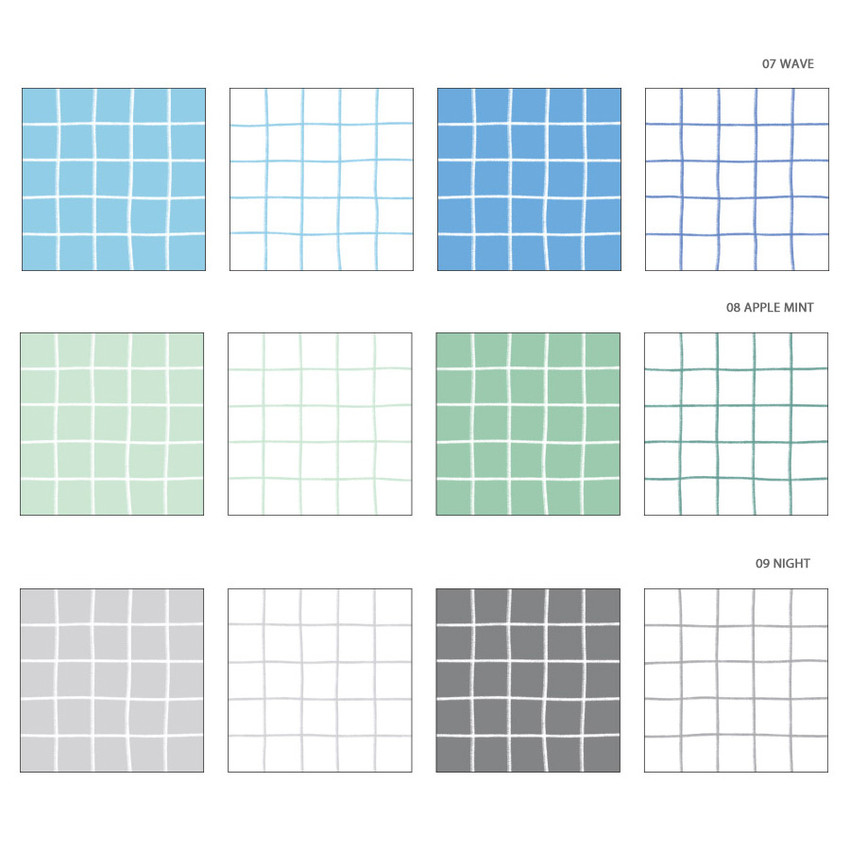 Color - Wanna This Crayon check 4 designs memo notes notepad