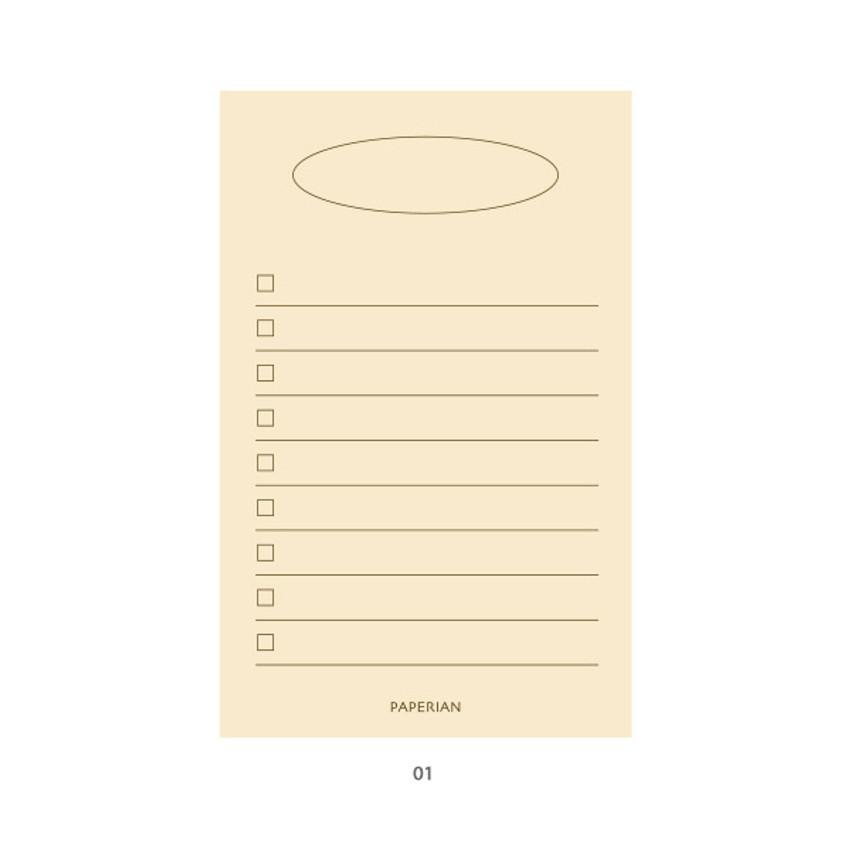 01 - PAPERIAN Make a memo my checklist notepad