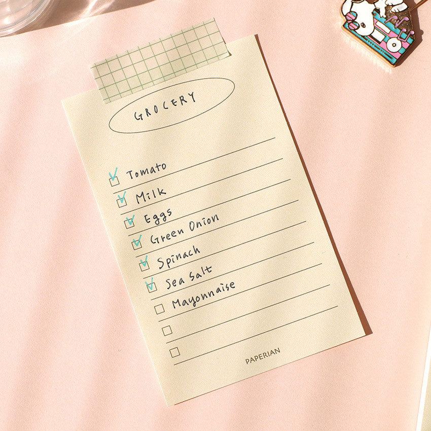Usage example - PAPERIAN Make a memo my checklist notepad