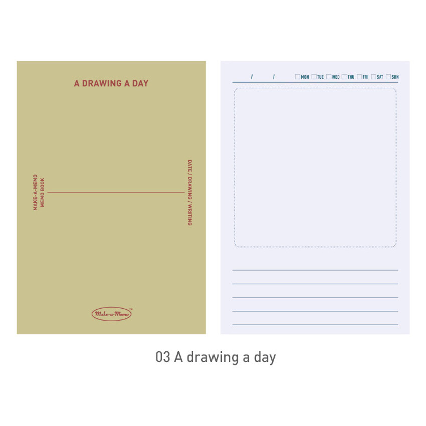 03 A drawing a day - PAPERIAN Make a memo A6 notebook