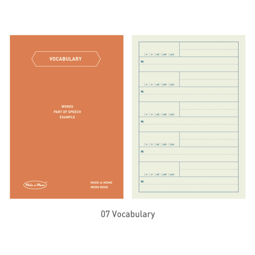 07 Vocabulary - PAPERIAN Make a memo A6 notebook