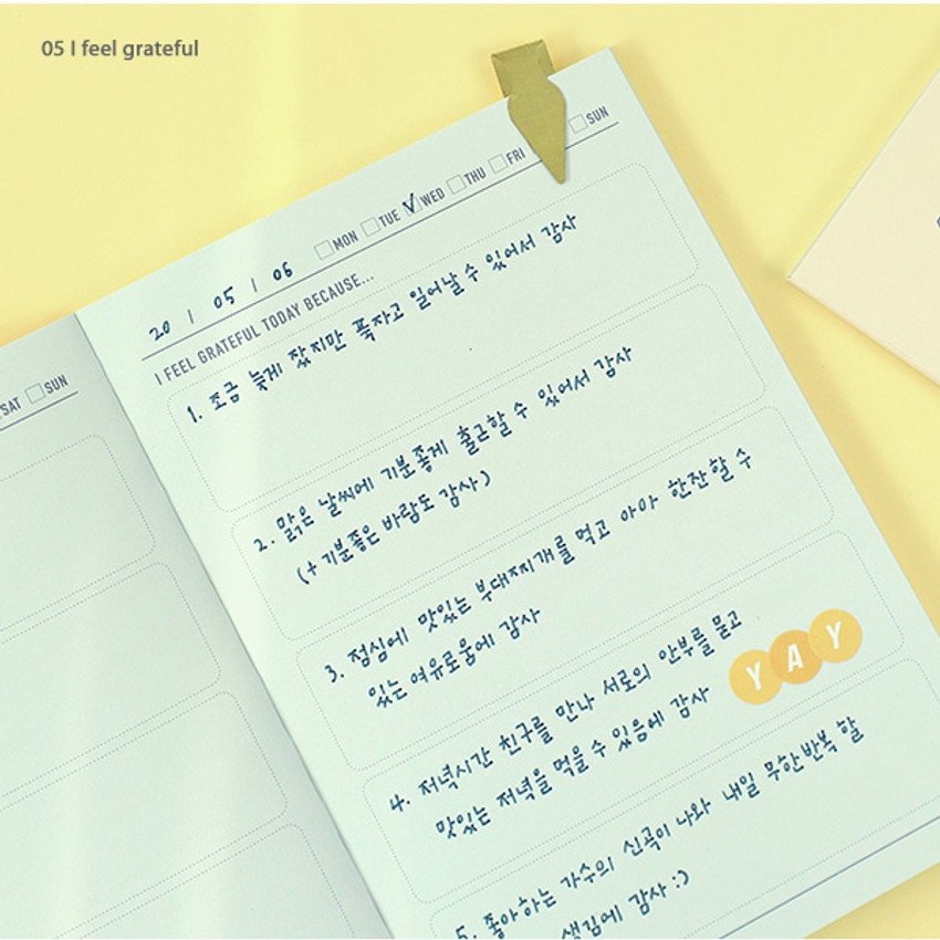 05 I feel grateful - PAPERIAN Make a memo A6 notebook