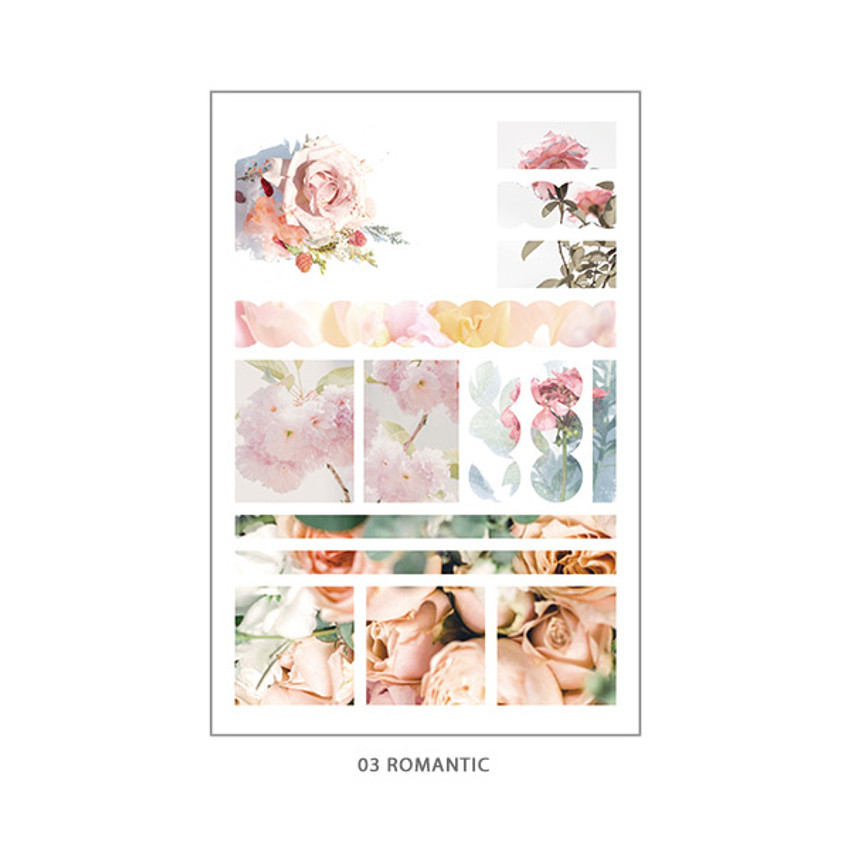 03 Romantic - PLEPLE Mood deco photo paper sticker set