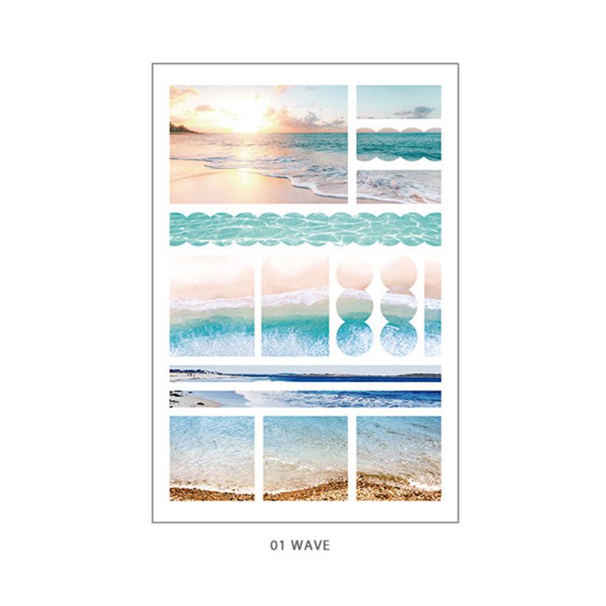 01 Wave - PLEPLE Mood deco photo paper sticker set