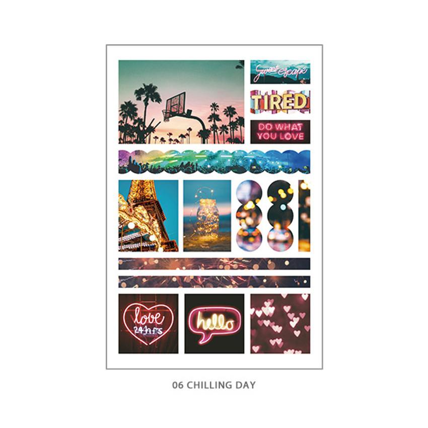06 Chilling Day - PLEPLE Mood deco photo paper sticker set