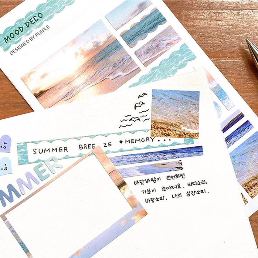 Usage example - PLEPLE Mood deco photo paper sticker set