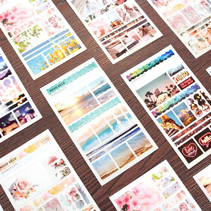 PLEPLE Mood deco photo paper sticker set