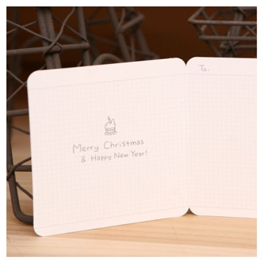 Inside of Merry christmas & Happy new year card