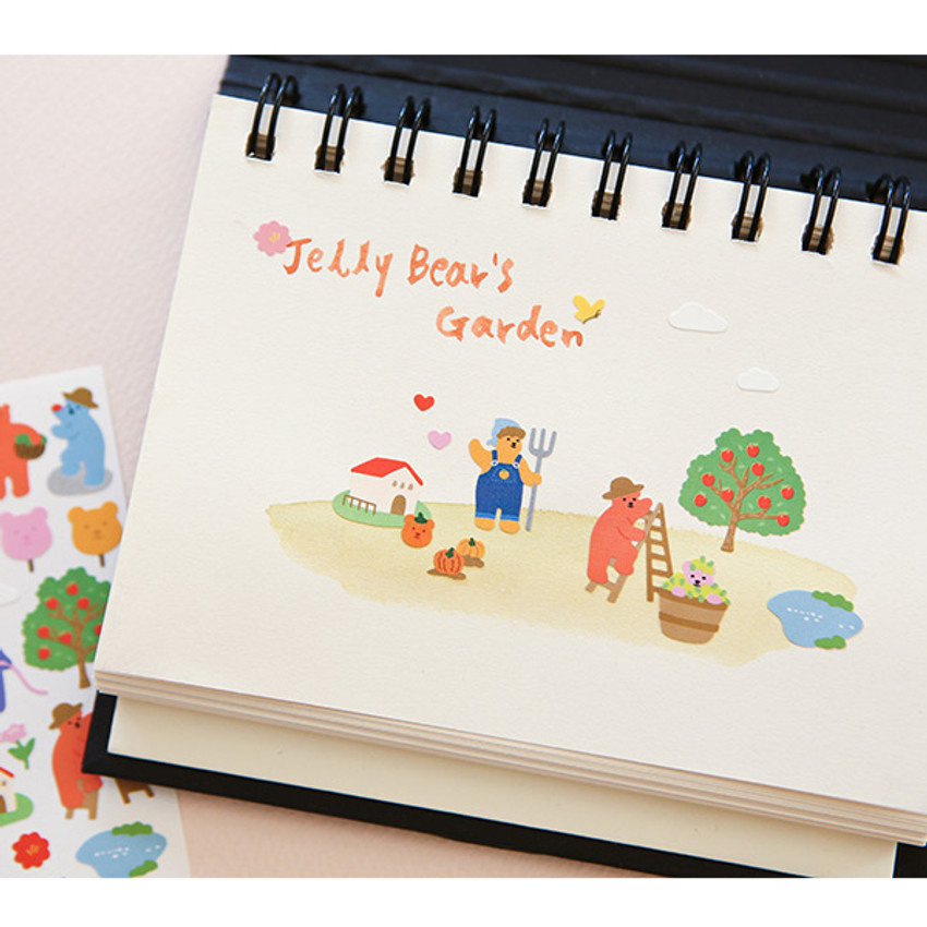 Usage example - Dailylike Jelly bear Garden paper removable sticker
