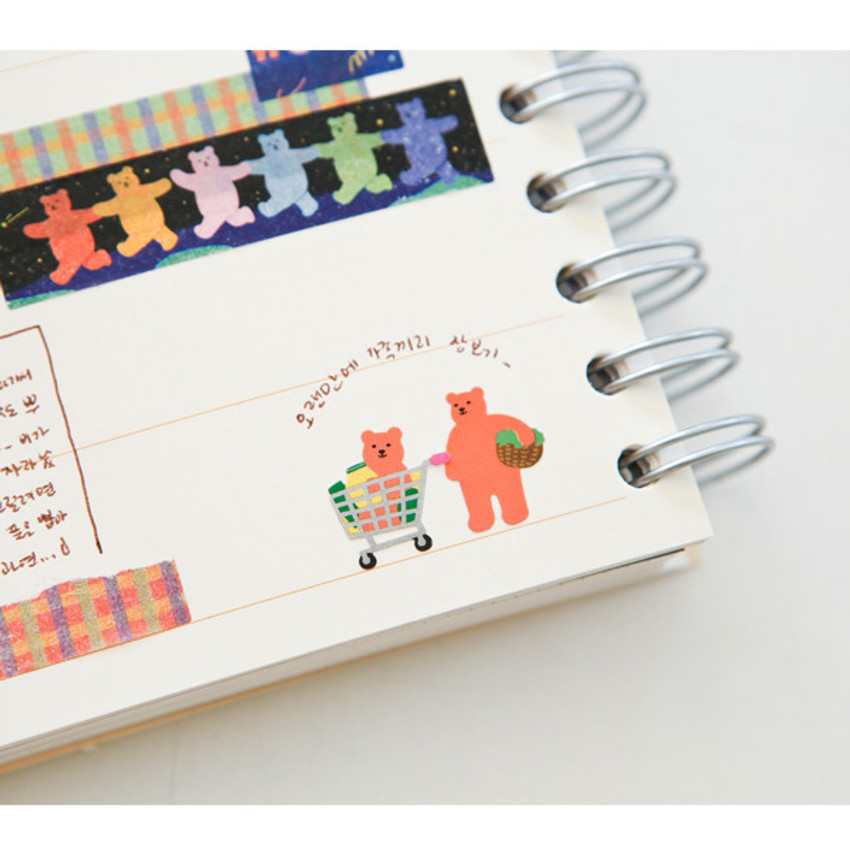 Usage example - Dailylike Jelly bear Shopping paper removable sticker
