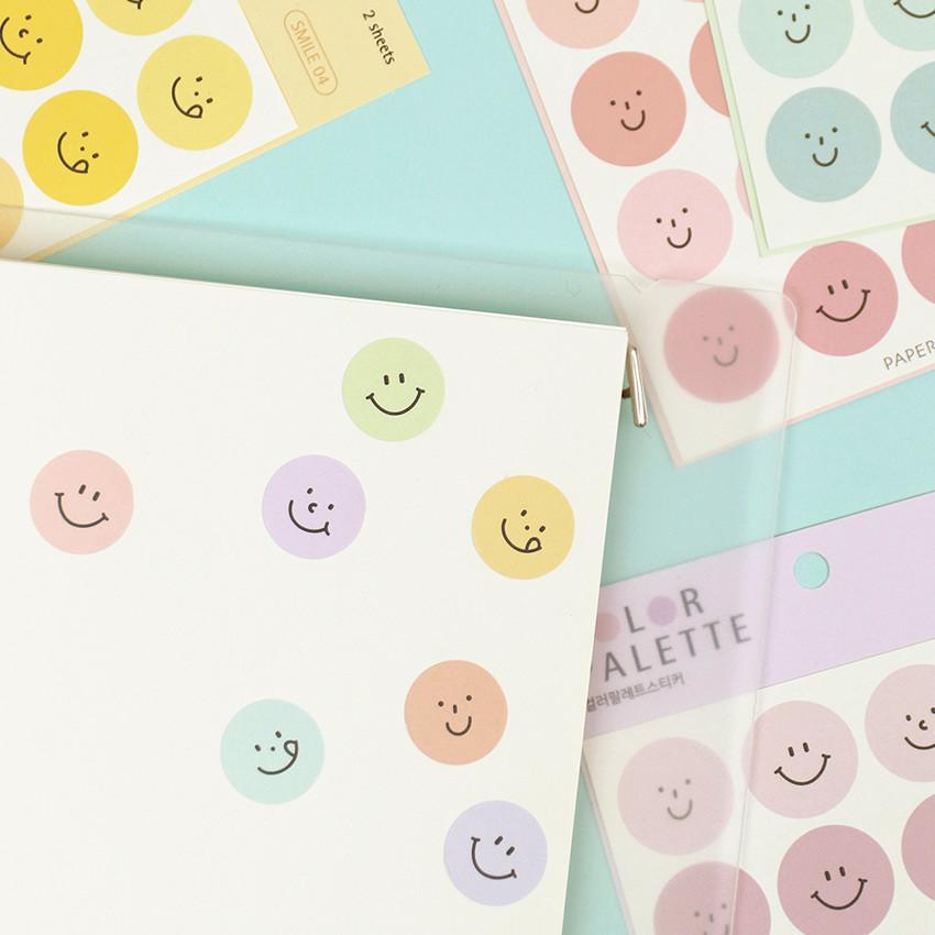 Usage example - PAPERIAN Color palette Smile deco sticker set