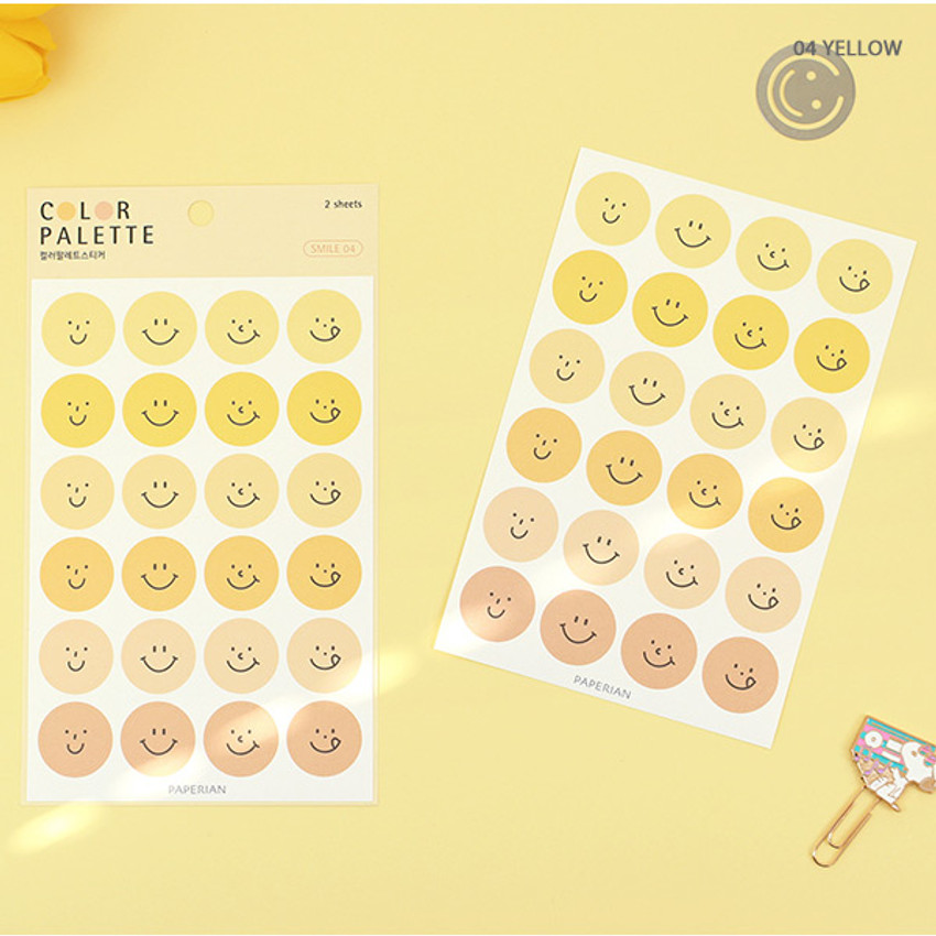 04 Yellow - PAPERIAN Color palette Smile deco sticker set