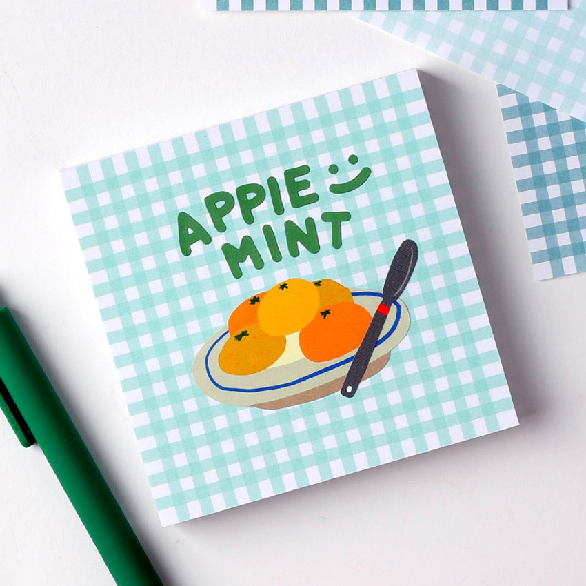 Apple Mint - Wanna This Picnic 3mm check 4 designs memo notes notepad