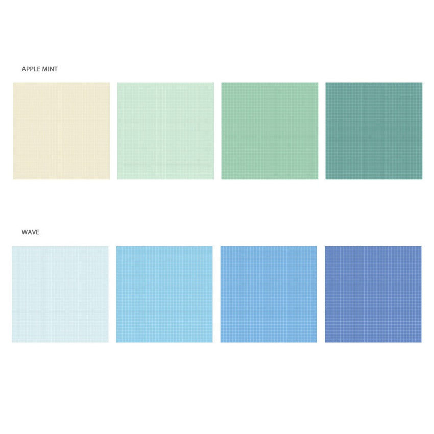 Option - Wanna This Palette 3mm grid 4 designs memo notepad