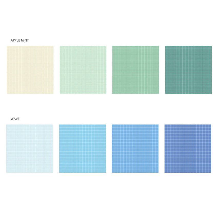 Option - Wanna This Palette 6mm grid 4 designs memo notepad