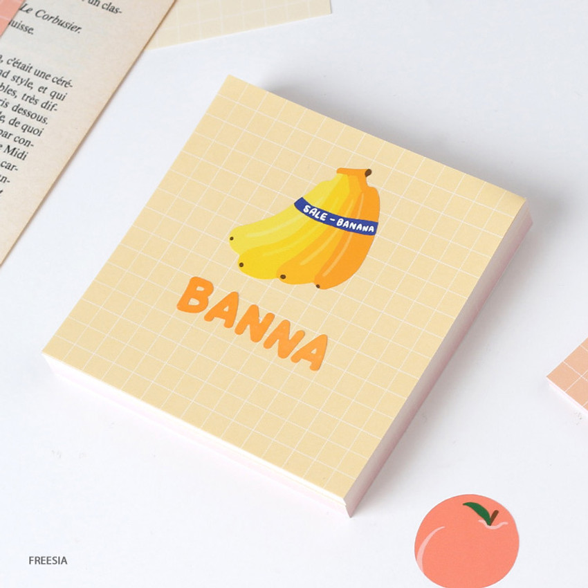 Freesia -Wanna This Palette 6mm grid 4 designs memo notepad