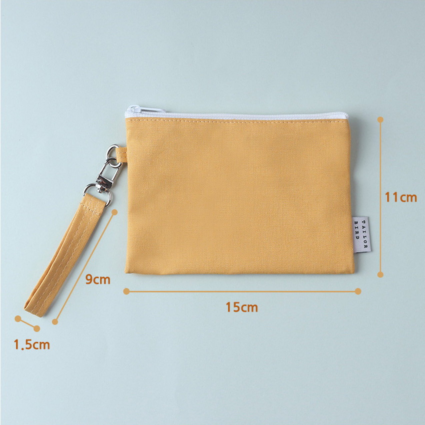 Size - Wanna This Palette fabric zipper pouch with a strap