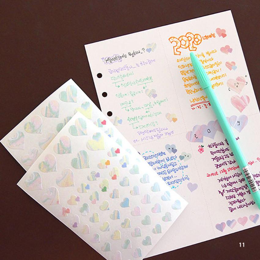 11 - PLEPLE Love in Life paper deco sticker 2 sheets