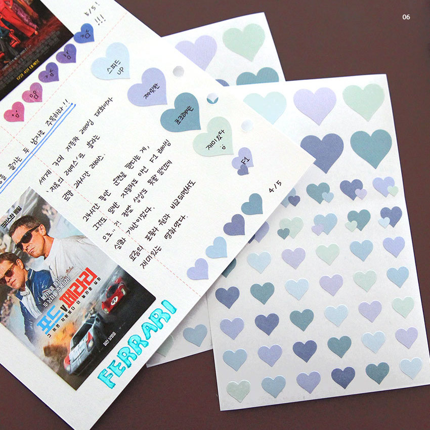 06 - PLEPLE Love in Life paper deco sticker 2 sheets