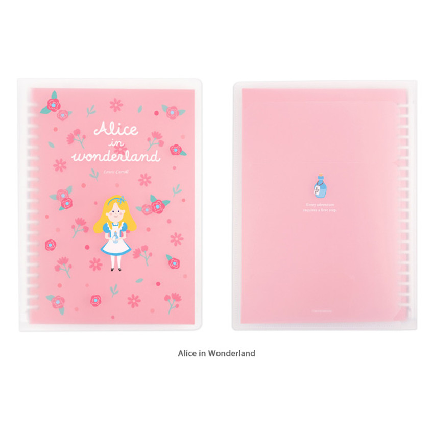 Alice in wonderland - Bookfriends World literature A5 20 ring binder with 60 sheets
