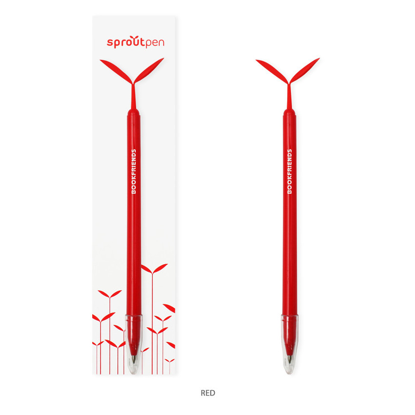 Red - Bookfriends Sprout basic 0.7mm pen with Dokumental black ink