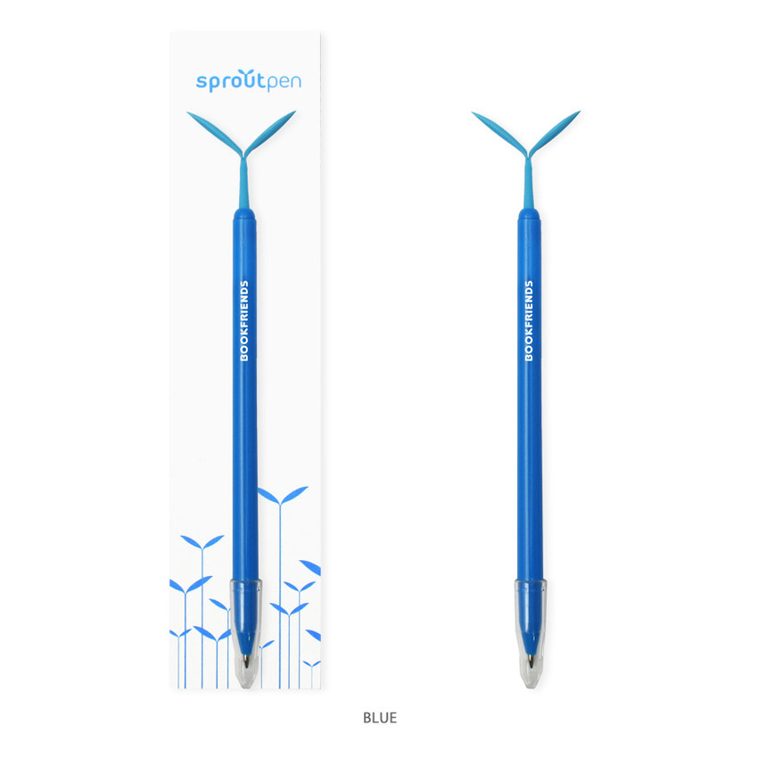 Blue - Bookfriends Sprout basic 0.7mm pen with Dokumental black ink