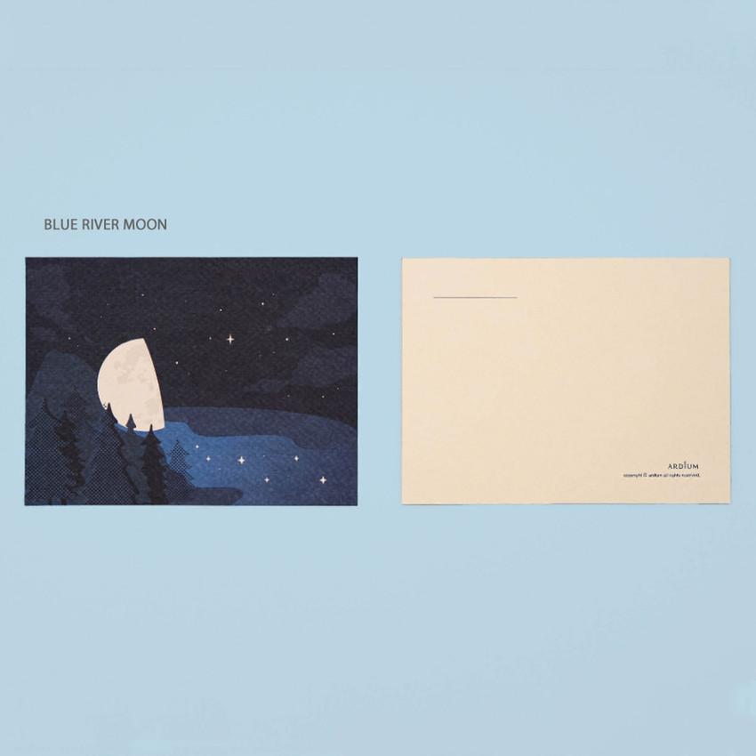 Blue River Moon - Ardium The memory of the moon postcard