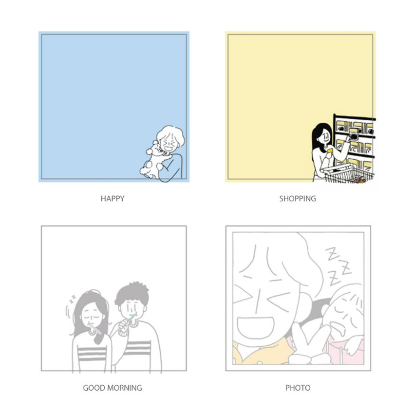 Option - DESIGN GOMGOM My You illustration memo notepads