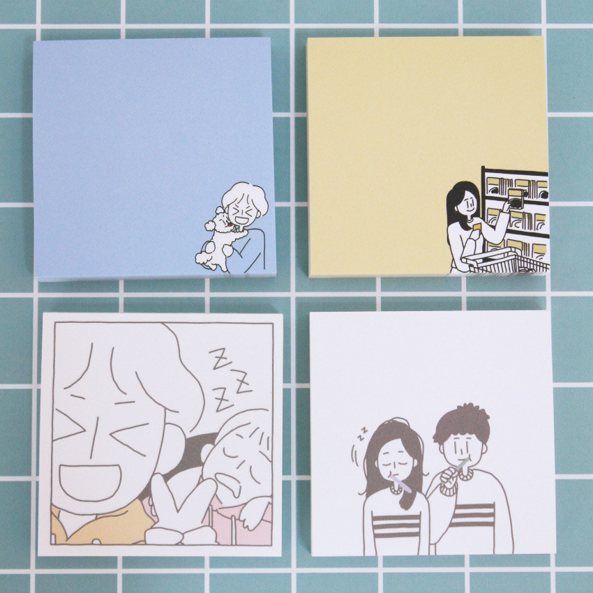 DESIGN GOMGOM My You illustration memo notepads