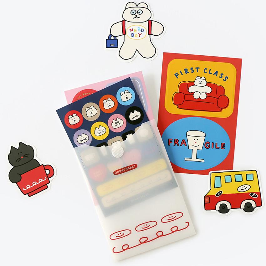ROMANE Donat Donat removable deco sticker pack