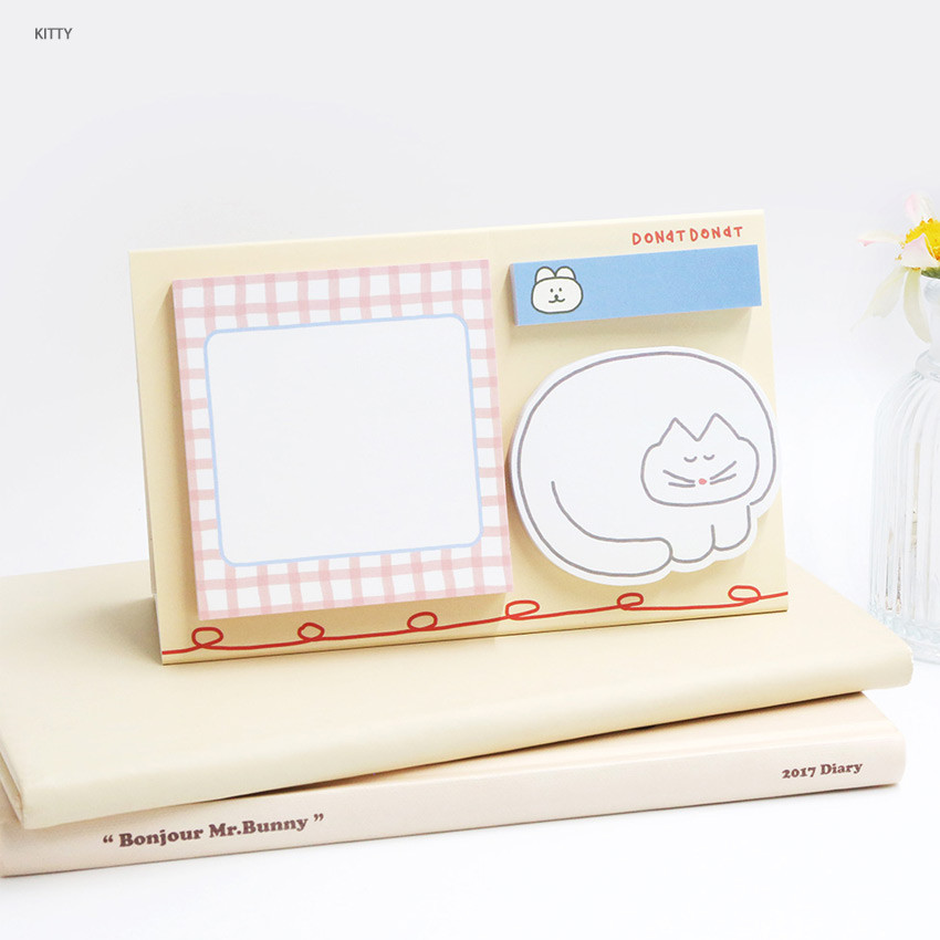Kitty - ROMANE Donat Donat sticky memo notepad set