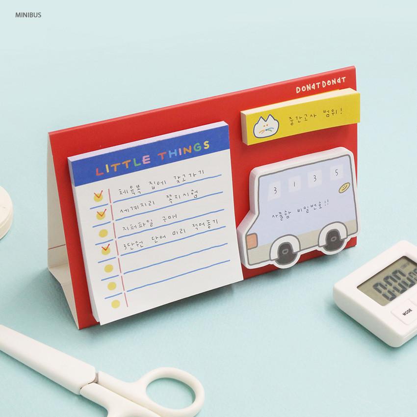 Mini bus - ROMANE Donat Donat sticky memo notepad set