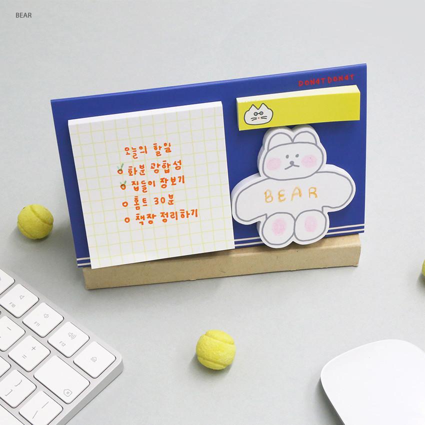 Bear - ROMANE Donat Donat sticky memo notepad set