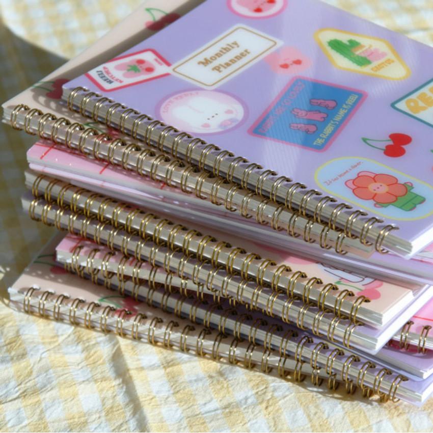 Wire bound - Reeli 6 months dateless monthly planner notebook