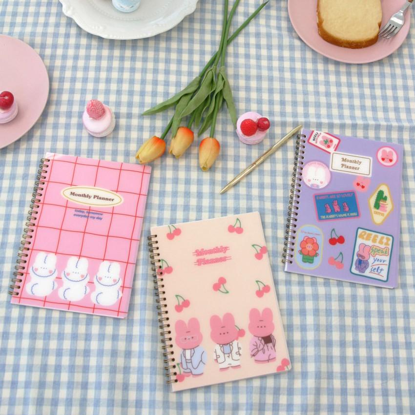 Reeli 6 months dateless monthly planner notebook