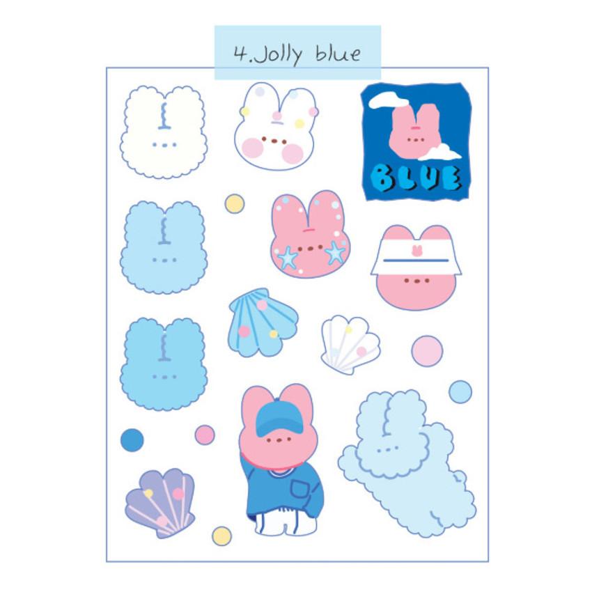 Jolly Blue - DESIGN GOMGOM Reeli removable deco sticker
